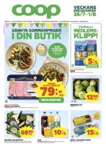 1-Veckans reklamblad från Coop i Melleruds Handel